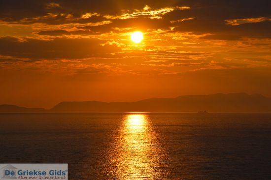 Zonsondergang in west Kythira, Griekenland